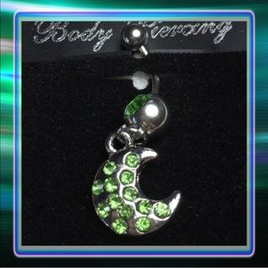 Jewelry - Belly Button Ring Crescent Moon